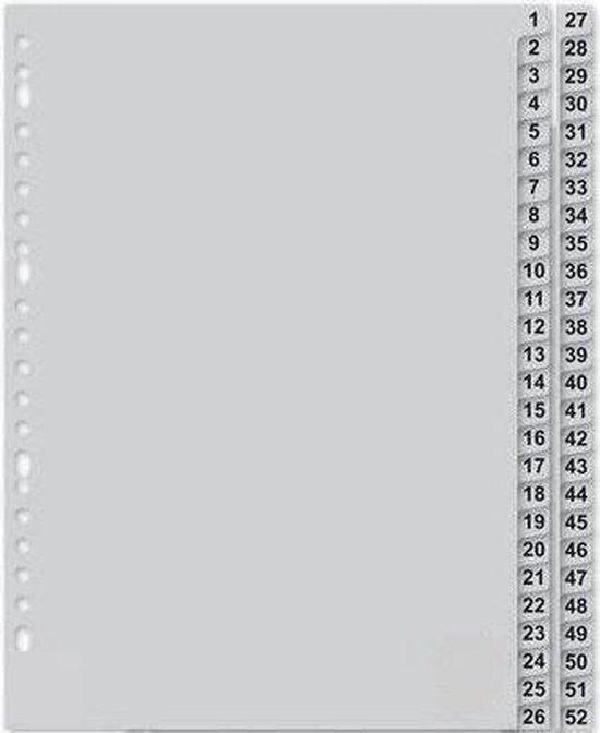 Blake Tabbladen met cijfers 52 Tabs PP - A4 - 23 ringen