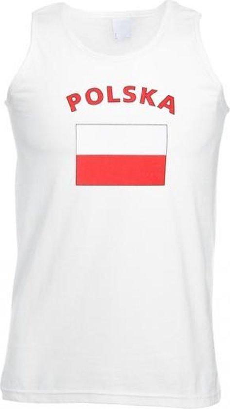Witte heren tanktop Polen M