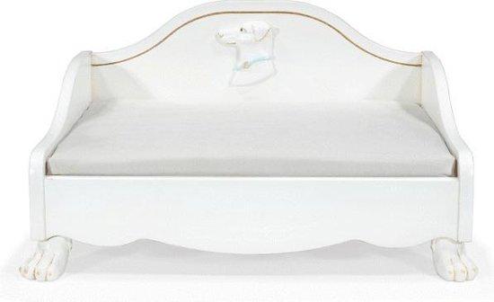 Anaiza Design Hondensofa Lulu Met 22 karaats Bladgoud - Hondenbank - 50.5x63x35 cm Wit Goud