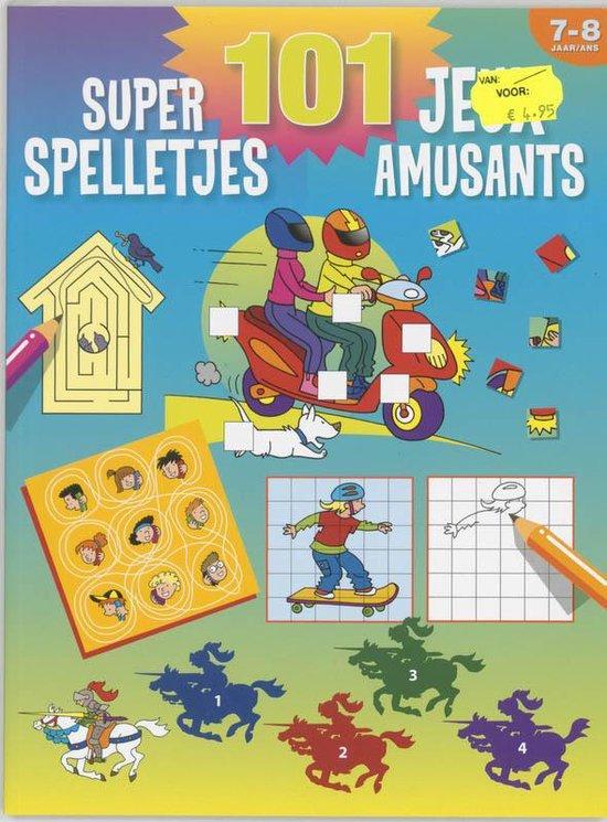 Cover van het boek '101 super spelletjes (7-8 j.) / 101 jeux amusants (7-8 a.)' van  Znu