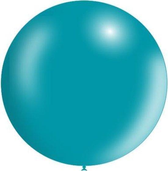Turquoise Reuze Ballon Metallic 60cm