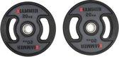 Hammer - PU - Olympische Halterschijven - per Paar - 2x 20 kg