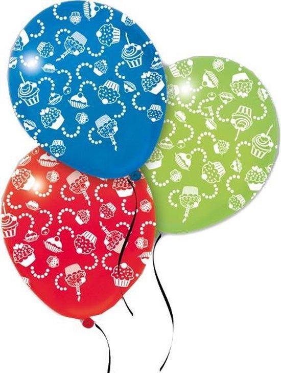 Pegaso Ballonnen Cupcake-print 14 Stuks 32 Cm