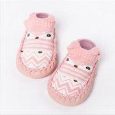 JillyBee - Baby Sokjes - Slofsokken - Sloffen - Antislip - Roze - 14cm