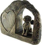 Hond overleden Urn brons (24,5 cm)