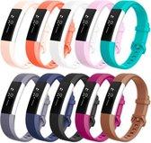 YONO Siliconen bandjes - Fitbit Alta (HR) - 10-pack - Small