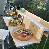De Slimme Balkontafel XL opklapbaar, 99 cm (balkon