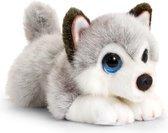 Keel Toys pluche Husky grijs/wit honden knuffel 25 cm - Honden knuffeldieren - Speelgoed voor kind