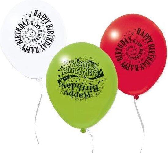 Pegaso Ballonnen Happy Birthday 15 Stuks 32 Cm