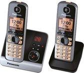 Panasonic KX-TG 6722 GB - Duo DECT telefoon - Antwoordapparaat - Zwart