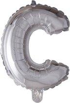 letterballon - 100 cm - zilver - C