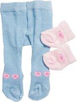 Heless Maillot En Sokjes Voor Een Pop Van 28-35 Cm Blauw/roze