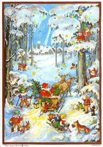 Adventskalender 45 Dwergen in sneeuw (geen chocolade)