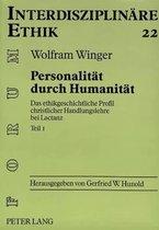 Personalitaet Durch Humanitaet