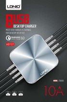 LDNIO - Premium Oplaad Station - 10A - 8 USB poorten met Auto-ID en Qualcomm 3.0 Ingang
