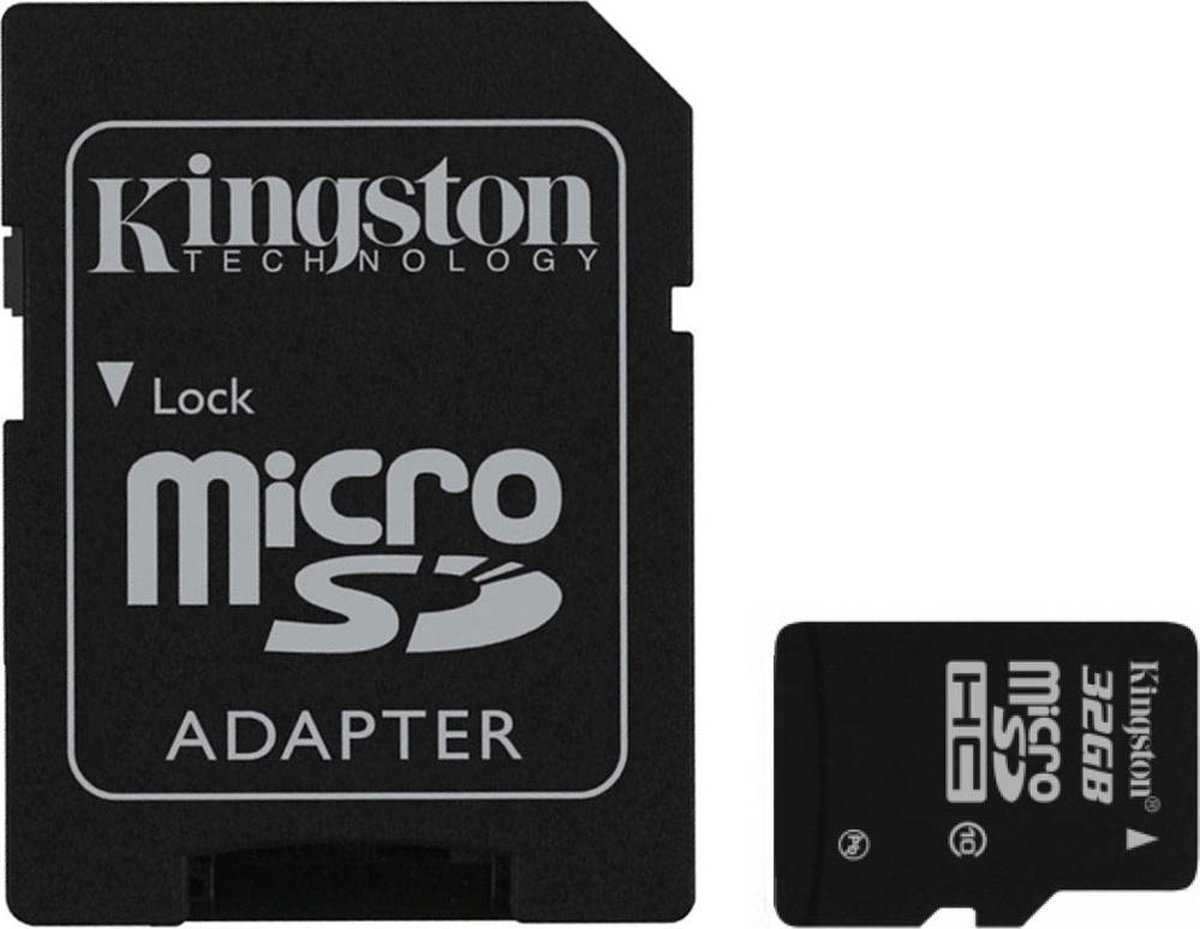 Kingston 32GB microSDHC Class 10 UHS-I + SD Adapter