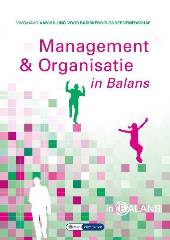 Management & organisatie in balans havo/vwo - Sarina van Vlimmeren | Fthsonline.com