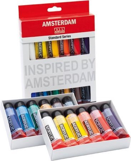 Afbeelding van Amsterdam acrylverfset met  12 tubes  20ml speelgoed