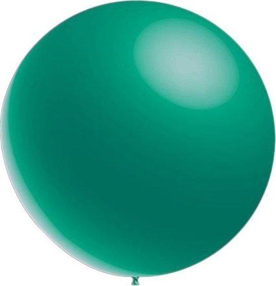 100 stuks - Metallic decoratieballonnen turquoise 28 cm professionele kwaliteit