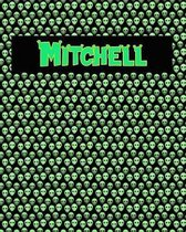 120 Page Handwriting Practice Book with Green Alien Cover Mitchell
