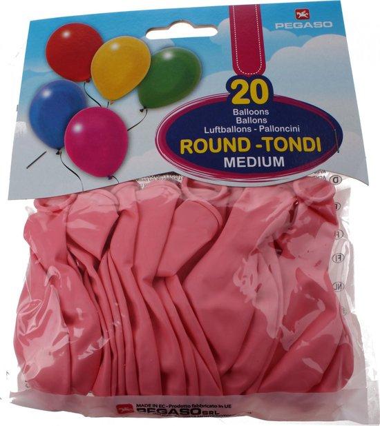 Pegaso Ballonnen 28 Cm Donkerroze 20 Stuks