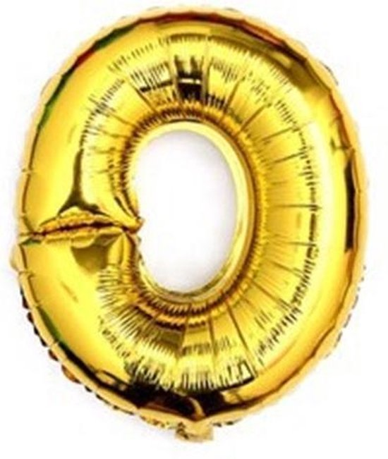 folie - ballon -100 cm grote XL - hoge kwaliteit- nummer 0 -goud