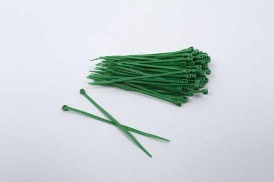 1000 stuks Groene kabelbinders 2.5mm x 200mm (099.0409)