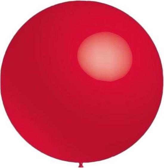 Mega grote ronde festivalballonnen rood 130 cm professionele kwaliteit