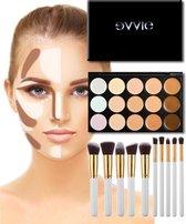 Evvie Contouring Set - Concealer Palette - 10-delige Kabuki Kwastenset