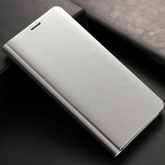 Let op type!! Voor Huawei Mate 10 Pro galvaniseren PC + PU horizontaal beschermhoes met standaard houder & slaap spiegelen / Wake-up functie (zilver)
