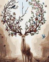 Schilderenopnummers.com® - Schilderen op nummer volwassenen - Jaargetij Hert - Hert - Deer