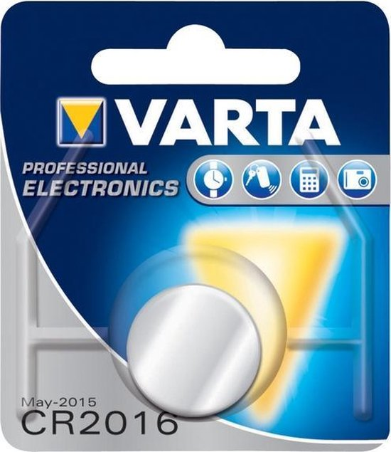 Varta Knoopcel Batterij - Cr 2016 - Lithium Professioneel - 3 Volt - Varta