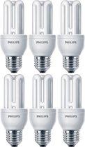6 stuks - Philips Genie Spaarlamp E27 11W/865 6500K Daglicht 580lm