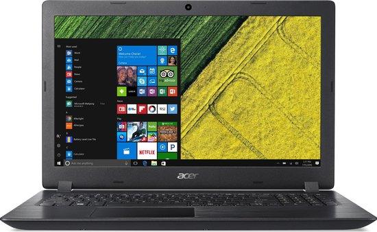 Acer Aspire 3 A315-51-58C3 Zwart Notebook 39,6 cm (15.6'') 1920 x 1080 Pixels Zevende generatie Intel® Core™ i5 4 GB DDR4-SDRAM 256 GB SSD Windows 10 Home