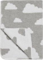 Meyco Little Clouds ledikantdeken - 120x150 cm - Grijs