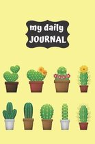 Cactus Lovers Blank Lined Journal Notebook