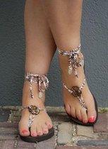 Bandajanas slippers, laag , donkerbruin