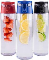 Fruitwater - Fruit Filter Fles met drinkdop - Fruit Infuser - BPA Vrij- Fruitfilter Sport drinkFles -Milieuvriendelijke Sportfles - Draagbare drinkfles - meerdere varianten
