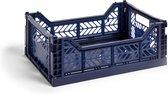 HAY Colour Crate M Navy Vouwkrat  L40 X B30 X H14.5 Set van 3 stuks