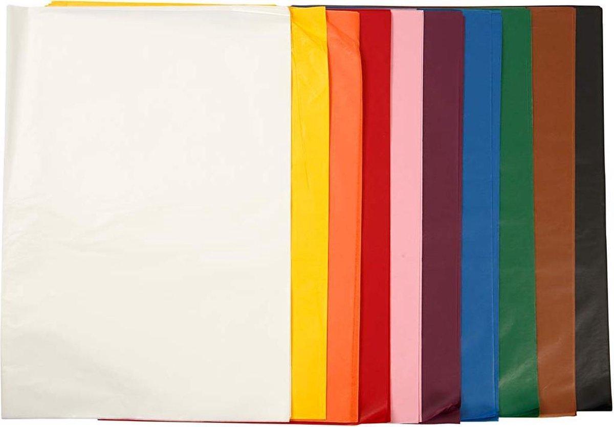 Tissuepapier, 50x70 cm, 10x25 vellen - Colortime