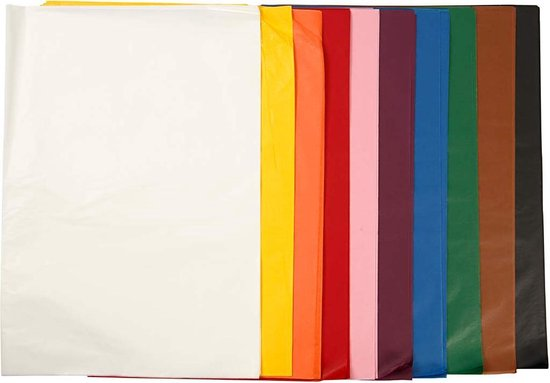 Tissuepapier, 50x70 cm, 10x25 vellen