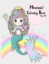 Mermaid Coloring Book Age 4-8