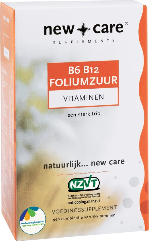 New Care B6 B12 Foliumzuur Vitaminen - 60 Zuigtabletten - Vitaminen