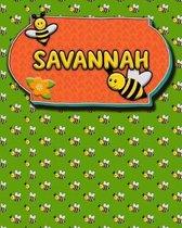 Handwriting Practice 120 Page Honey Bee Book Savannah