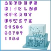 Set 40 delig – Alfabet fondant uitstekers - ABC - Uitsteekvormen