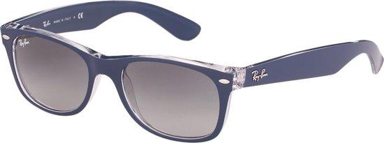 Ray-Ban RB2132 605371 - New Wayfarer (Color Mix) - zonnebril - Transparant-Blauw / Grijs Gradiënt - 52mm