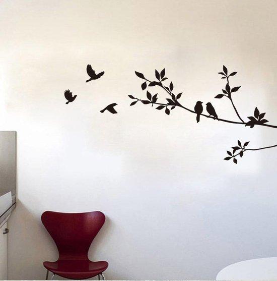 Bol Com Vogelstickers Vogels Op Tak Wanddecoratie Anti Inslag Sticker Vogels Afmeting