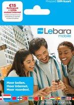 Lebara 5/5/5 simkaart met 50MB internet