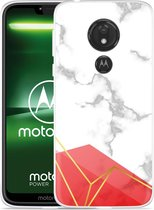 Moto G7 Power Hoesje Trendy Marmer