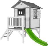 AXI Lodge XL Speelhuis Klassiek - FSC - Platform 57 cm - Limoen groene Glijbaan